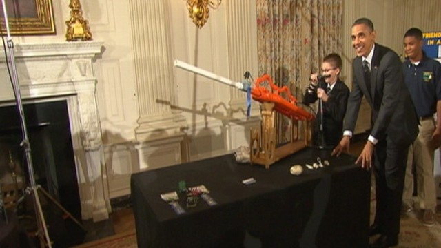 VIDEO: Marshmallows Away! Obama Tests New Air Cannon