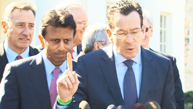 VIDEO: Jindal vs. Malloy: The Kumbaya moment of governors that turned into a partisan fight