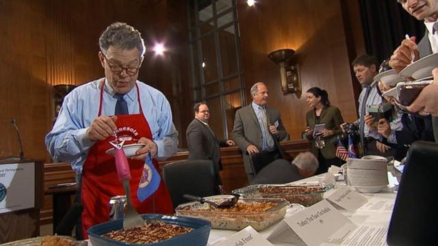 VIDEO: Ready, Set, Cook! Al Franken Brings Minnesota Hotdishes to D.C.