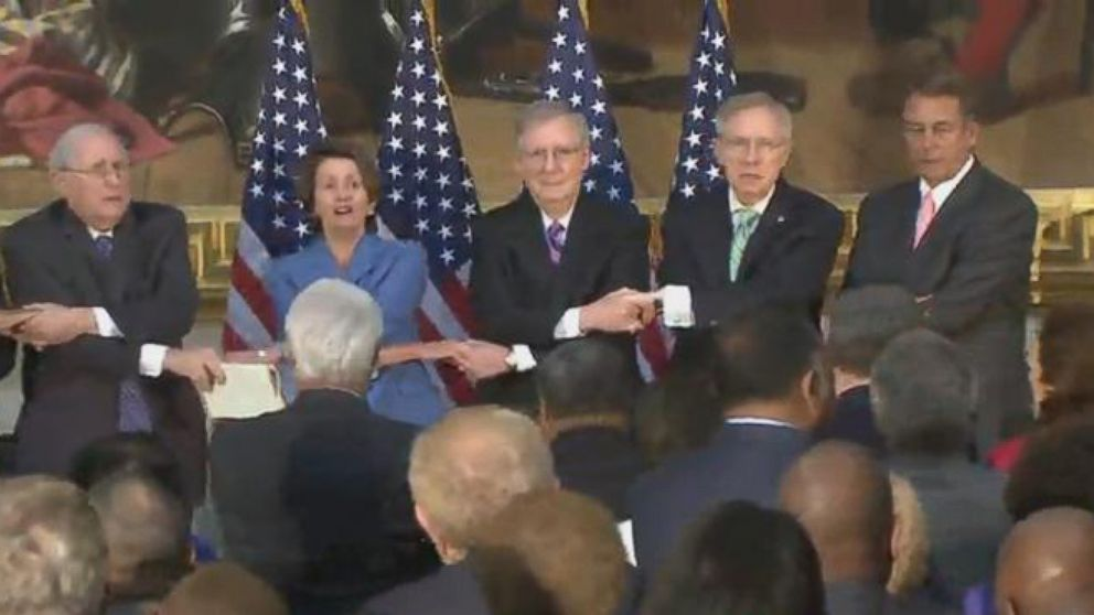 "Congressional Leaders: ""We Shall Overcome"""