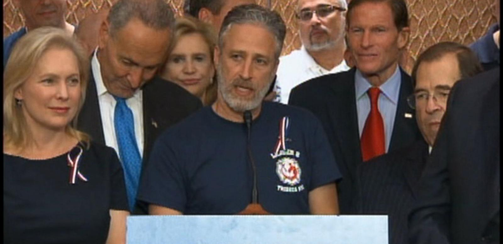 """VIDEO: The former """"Daily Show"""" traveled to Washington to support extension of the James Zadroga 9/11 Health and Compensation Act."""
