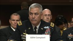 VIDEO: Gen. John Campbell testified before the Senate Armed Services Committee about the incident that left 22 people dead.