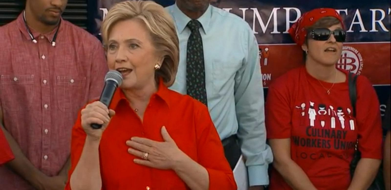 VIDEO: Hillary Clinton Shows Up at Union Rally Protesting Donald Trump's Las Vegas Hotel