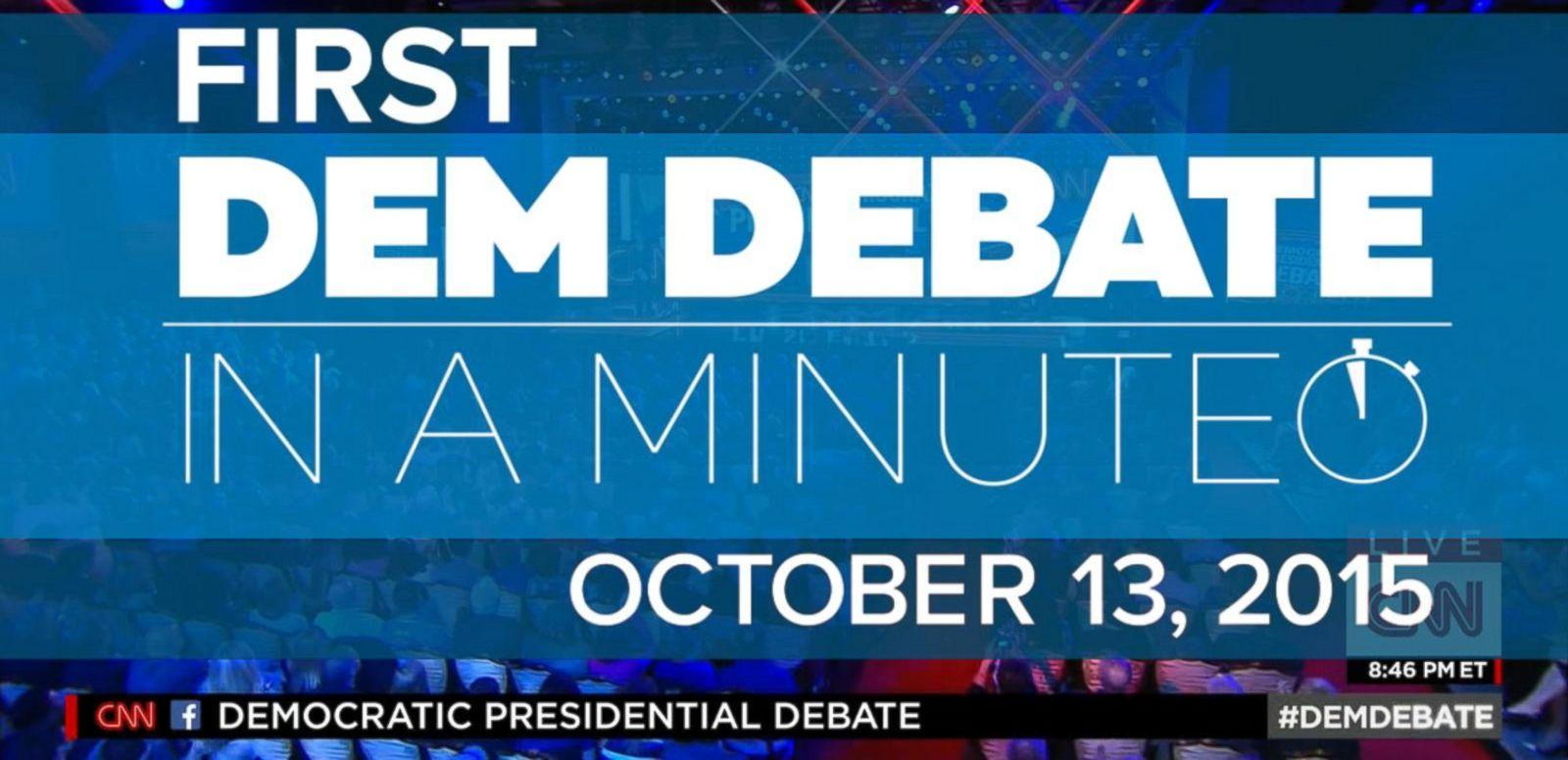 VIDEO: First Democratic Presidential Debate In A Minute