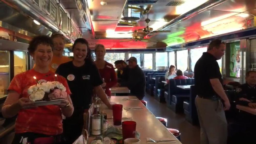tilt n diner wants to see biden in the race video   abc news