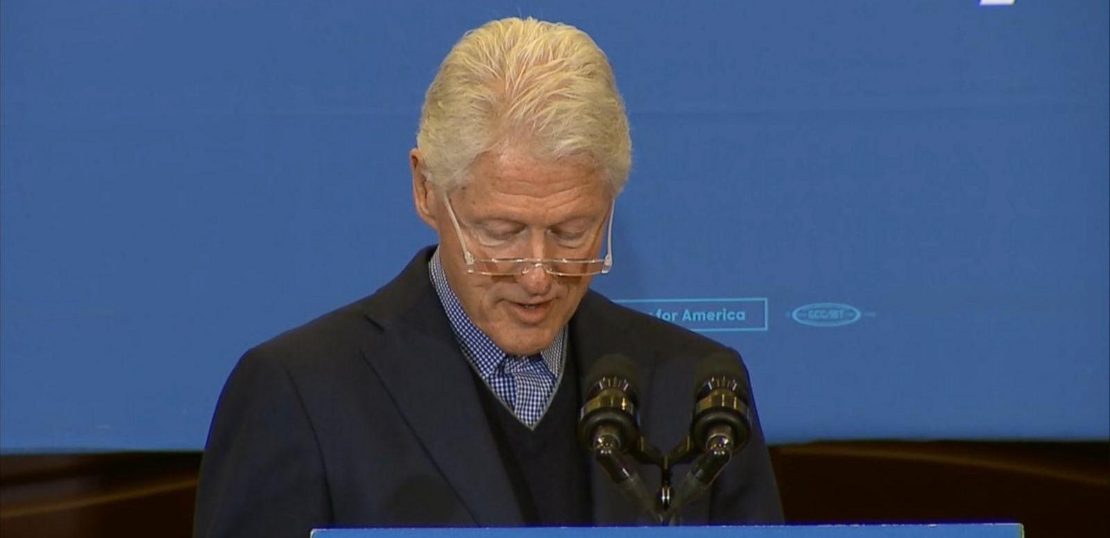VIDEO: Phone Call From Hillary Interrupts Bill Clintons Speech