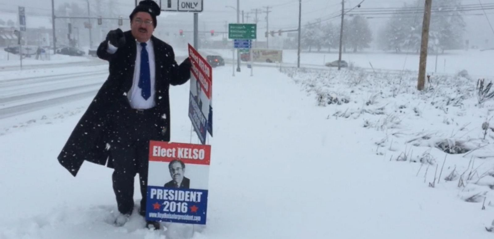 VIDEO: Lesser-Known Candidate, Lloyd Kelso Posts Yard Signs