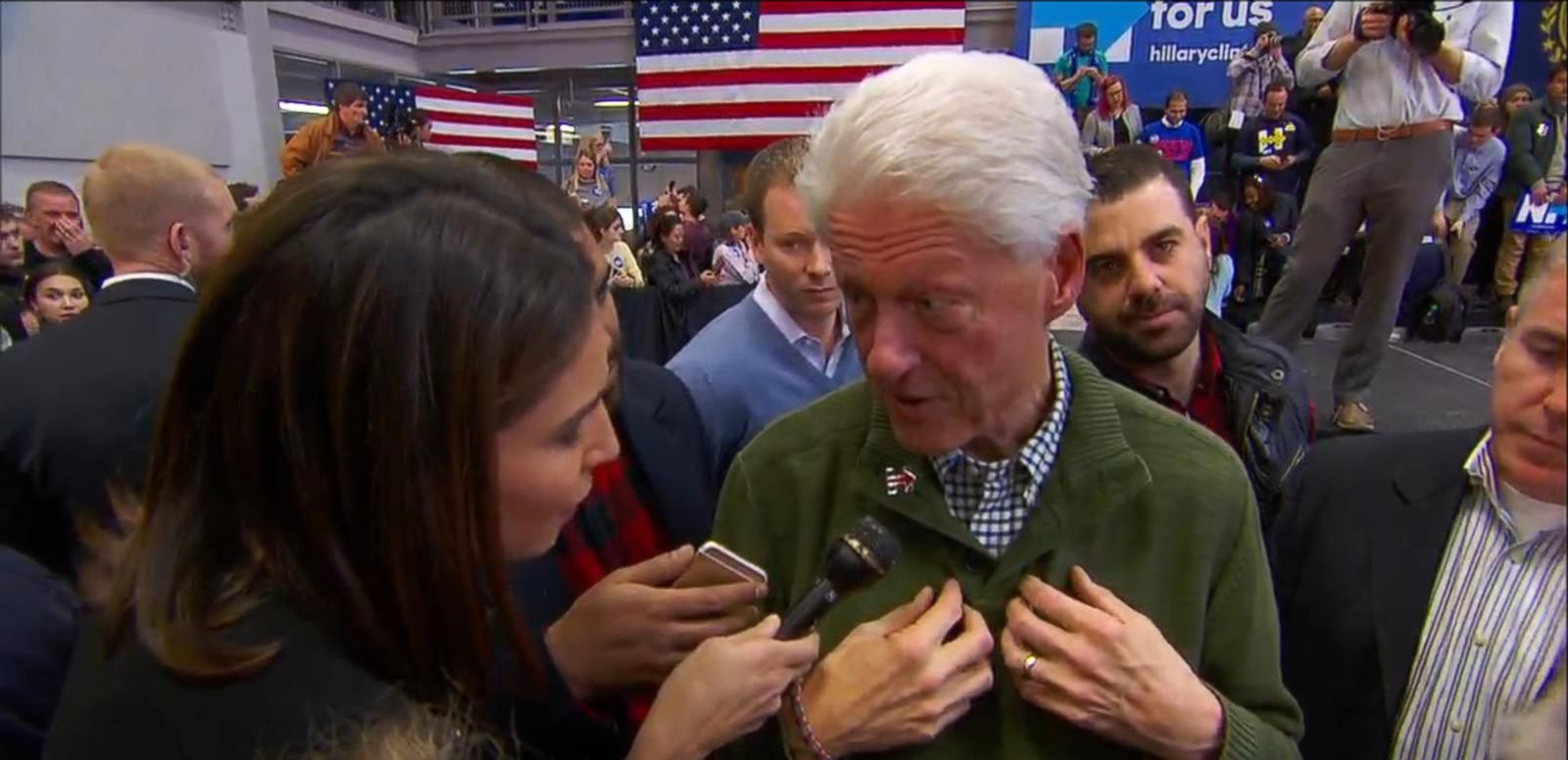VIDEO: Clinton Talks to ABC's Cecilia Vega About Whether Sanders Campaign Is 'Playing Dirty'