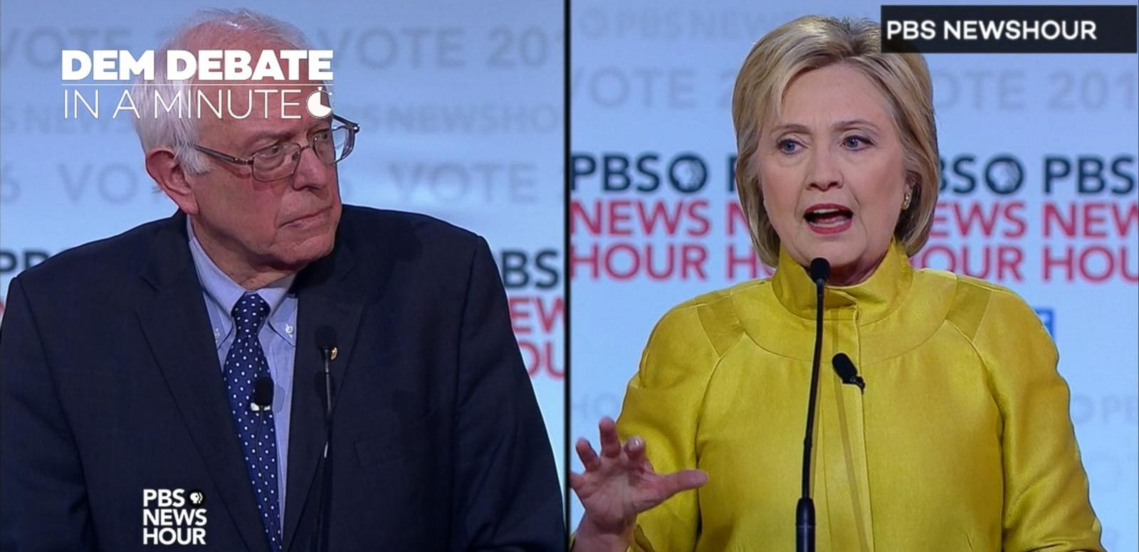 VIDEO: Sixth Democratic Presidential Debate In A Minute