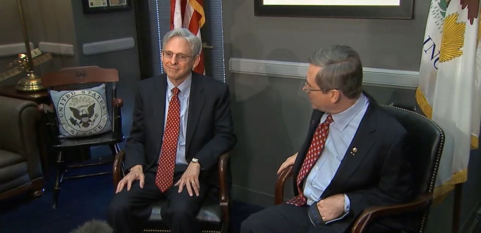 VIDEO: Kirk is the first Republican senator to meet with the SCOTUS nominee.