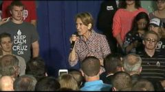 VIDEO: Fiorinas accident occurred after introducing her running mate at an event in Lafayette, Indiana.