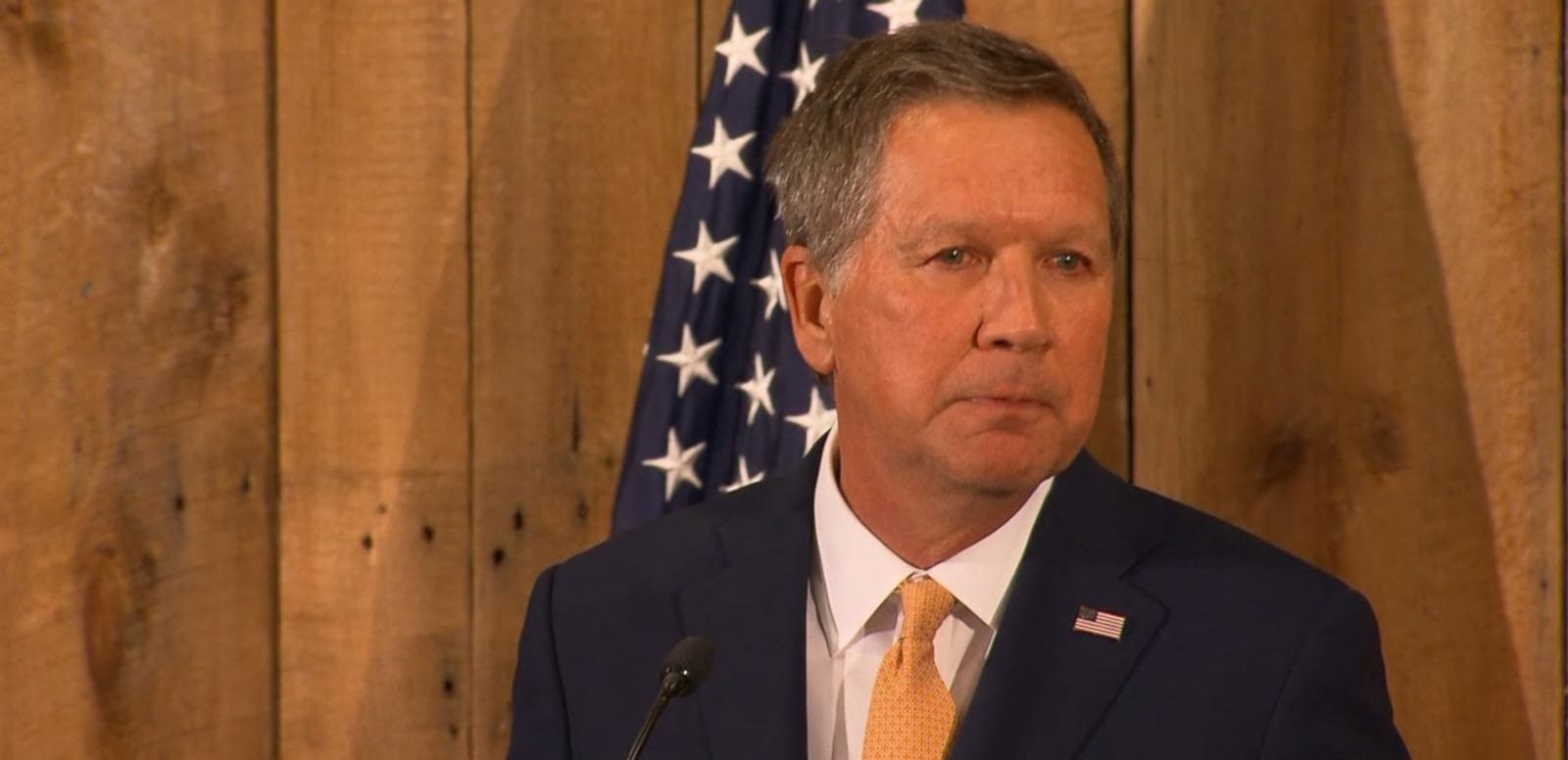 """As I suspend my campaign today, I have renewed faith,"" Kasich said."