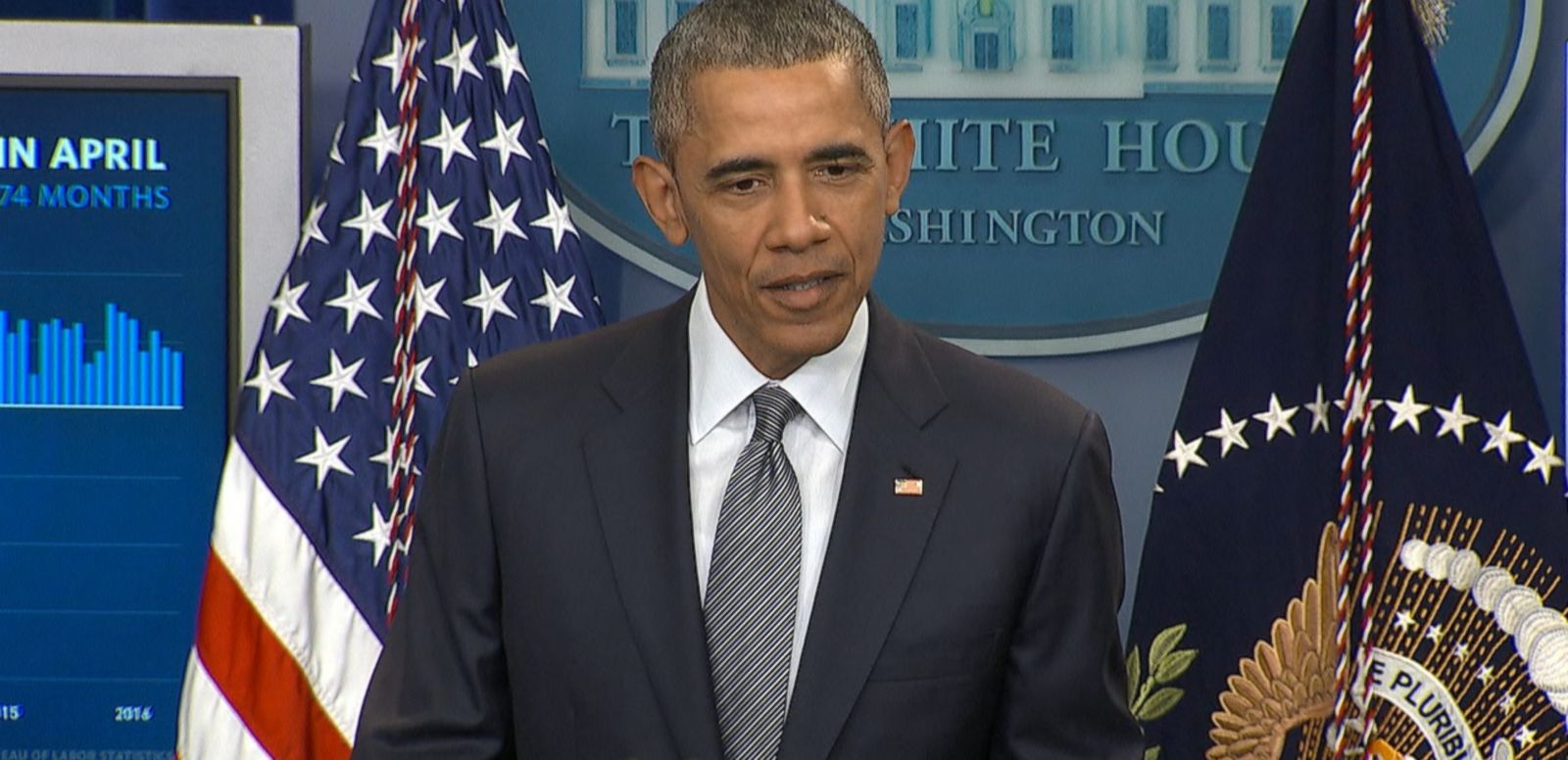 VIDEO: The president says he doesn't follow the GOP presumptive nominee's posts on Twitter.