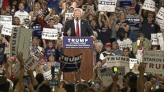 VIDEO: Donald Trump may now be the presumptive Republican presidential nominee, but that doesnt stop him from reacting to hecklers in the same way he has throughout his campaign.