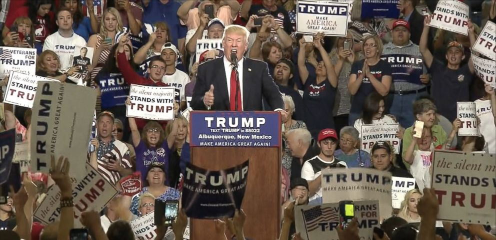 VIDEO: Donald Trump may now be the presumptive Republican presidential nominee, but that doesn't stop him from reacting to hecklers in the same way he has throughout his campaign.