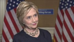 Clinton doubled down on her use of a private email server while secretary of state in an interview with ABC News.
