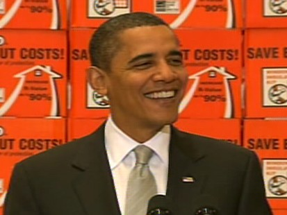 Video of President Barack Obama on weatherization and energy saving at Home Depot.