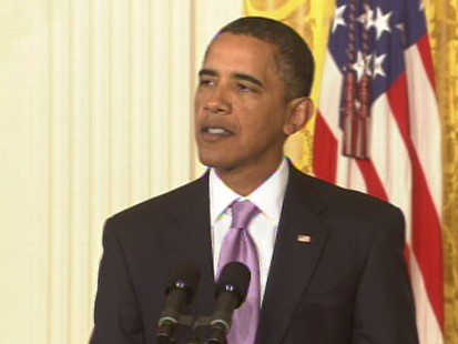 Video of President Barack Obama talking about the jobs report.
