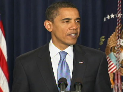 Video of President Barack Obama discussing a freeze of White House salaries over 100K.