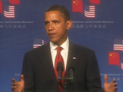 Video of President Obama discussing U.S. China relations, climate change, nuclear arms and human rights.