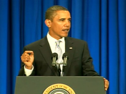 Video of President Barack Obama says we need financial oversight, one year after Lehman Brothers collapse.