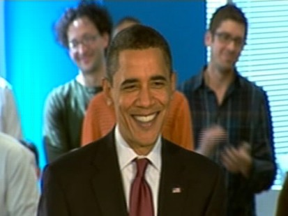 Video of President Obama talking about job numbers.