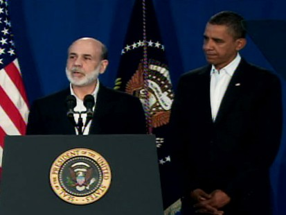 Video of President Obama appointing Fed Chair Ben Bernanke to a second term.