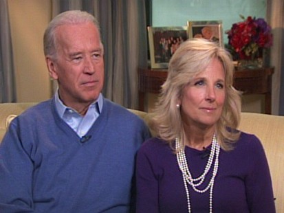 Video of Vice President Joe Biden and Jill Biden with ABCs Juju Chang.