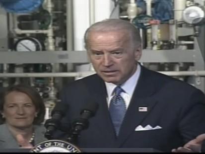 ABC News video of Vice President Joe Biden speaking in Saginaw, Michigan.