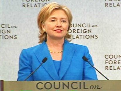 ABC News video of Hillary Clintons speech at the Council on Foreign Relations.