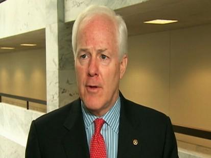 Video of Senator John Cornyns reaction to Richard Blumenthals vietnam service.