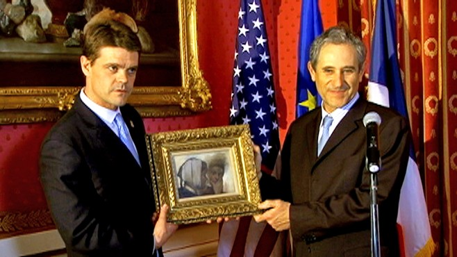 VIDEO: U.S. returns stolen Degas painting to France.