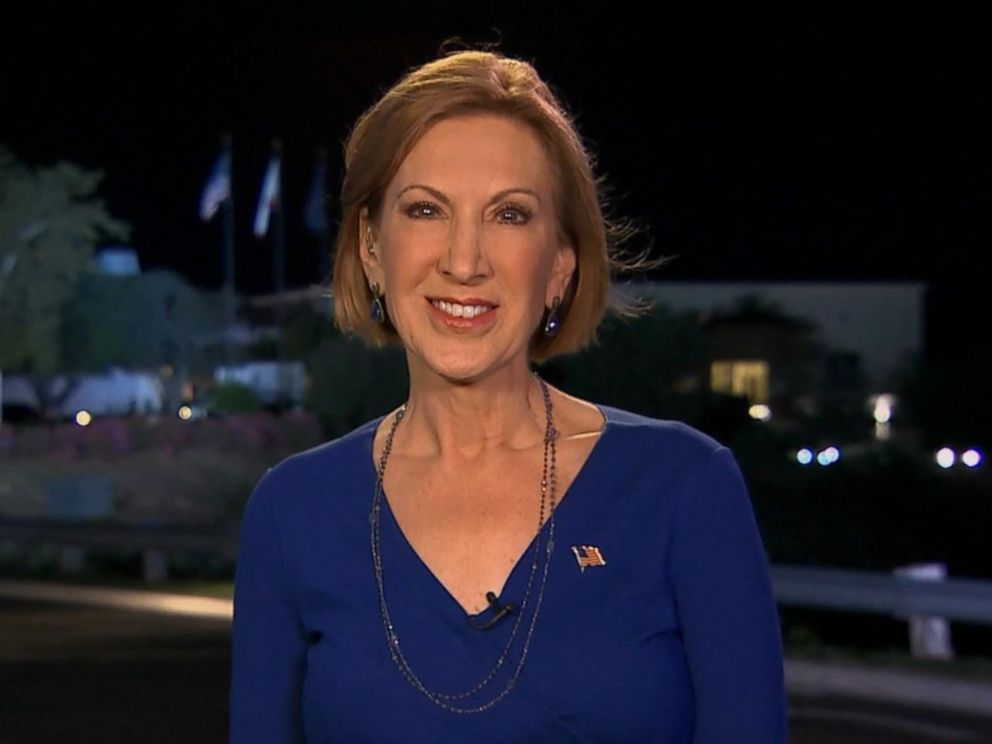 PHOTO:Carly Fiorina speaks with Good Morning Americas George Stephanopoulos, Sept. 17, 2015.