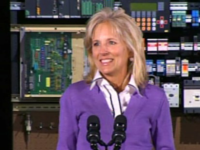 Video of Jill Biden touting the community college education system.