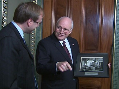 video of vice president cheney discussing his time in office.
