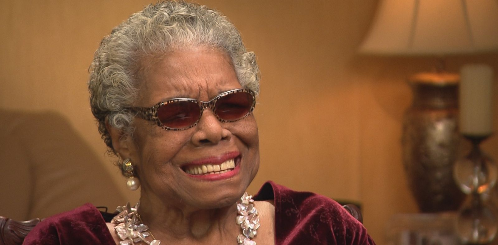 """PHOTO: Dr. Maya Angelou on """"This Week"""" talking about her new book """"Mom & Me & Mom."""""""