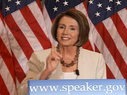 Video of House Speaker Nancy Pelosi responding to questions about the CIA controversy.