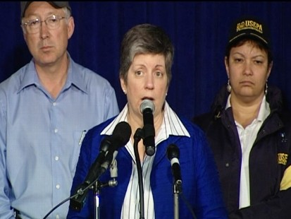 Video of Secretary Janet Napolitano press conference in Gulf on oil spill.