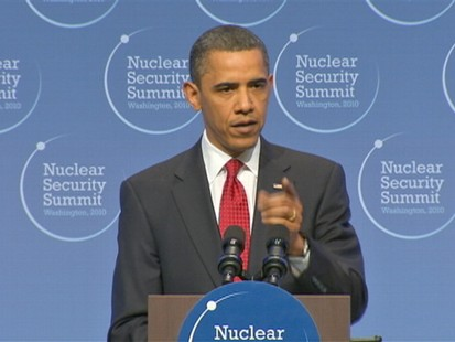 ABC News video of President Obama speaking at nuclear summit.