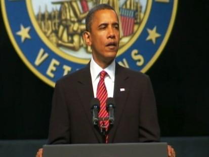 Video: President Obama talks to vetrans.