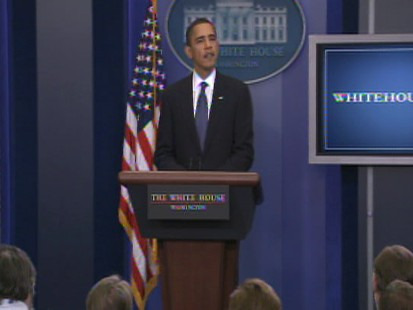 ABC News video of President Obama touting the AARPs endorsement of the House health care reform bill.