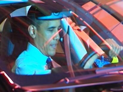 Video: President Barack Obama takes car for a ride.