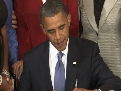 Video: President Obama signs Small-Business Jobs Bill.