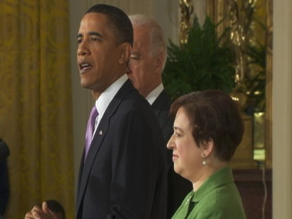 Video of President Obama talking about why he chose Elena Kagan.