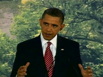 ABC News video of Obama speaking about health care in Mexico.