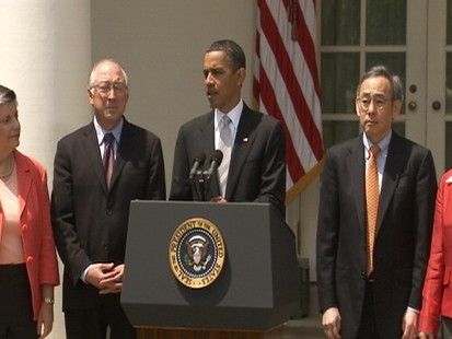 Video of President Barack Obamas remarks on oil spill.