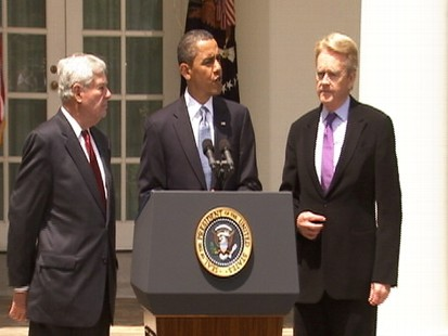 Video of President Barack Obama announcing oil spill investigation commission.