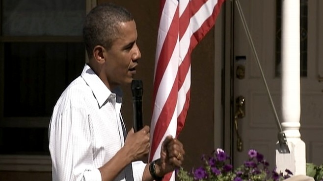 Video: President Obama talks about religion at backyard town hall.