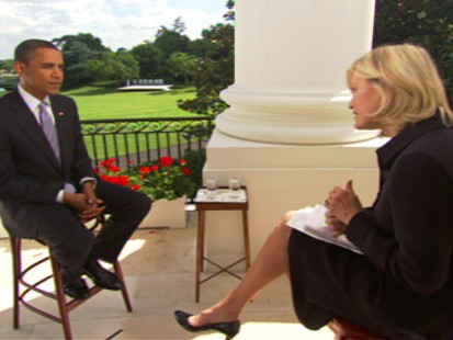 Video of ABCs Diane Sawyer interviewing President Obama.