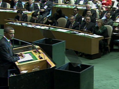 Video of President Obama telling the UN general assembly that he ordered the closure of Guantanamo.